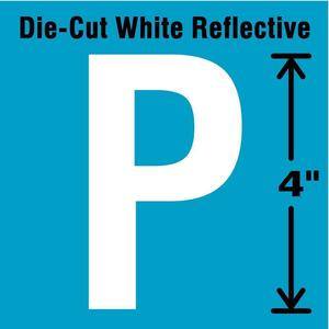STRANCO INC DWR-4-P-5 Letter Label P White - Pack Of 5   AD4JGN 41R066