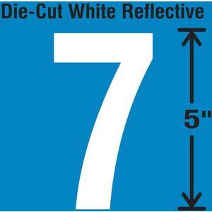STRANCO INC DWR-5-7-5 Die-Cut Reflective Number Label 7 PK5 | AH3ACW 30WY86