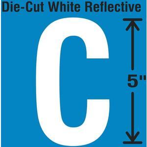 STRANCO INC DWR-5-C-5 Die-Cut Reflective Letter Label C PK5   AH3ADB 30WY91