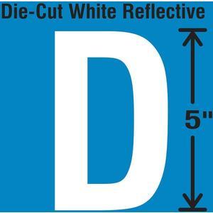 STRANCO INC DWR-5-D-5 Die-Cut Reflective Letter Label D PK5   AH3ADC 30WY92