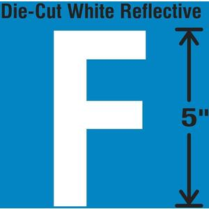 STRANCO INC DWR-5-F-5 Die-Cut Reflective Letter Label F PK5   AH3ADE 30WY94