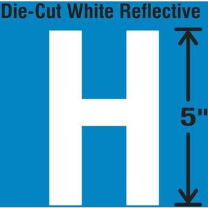 STRANCO INC DWR-5-H-5 Die-Cut Reflective Letter Label H PK5 | AH3ADG 30WY96