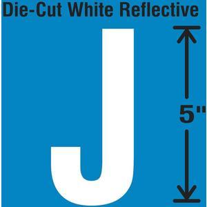 STRANCO INC DWR-5-J-5 Die-Cut Reflective Letter Label J PK5 | AH3ADJ 30WY98