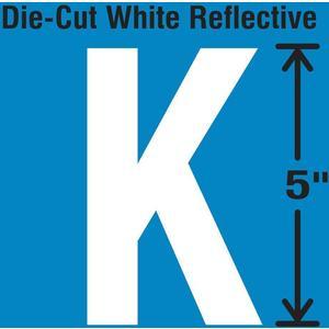 STRANCO INC DWR-5-K-5 Die-Cut Reflective Letter Label K PK5 | AH3ADK 30WY99