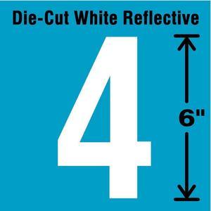 STRANCO INC DWR-6-4-EA Number Label 4 White   AD4JHE 41R081