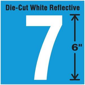 STRANCO INC DWR-6-7-EA Number Label 7 White | AD4JHH 41R084