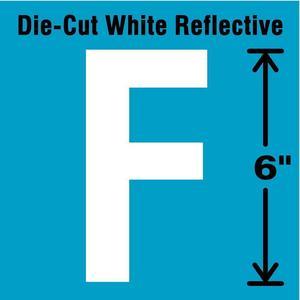 STRANCO INC DWR-6-F-EA Letter Label F White | AD4JHR 41R092