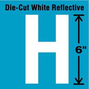 STRANCO INC DWR-6-H-EA Letter Label H White   AD4JHU 41R094