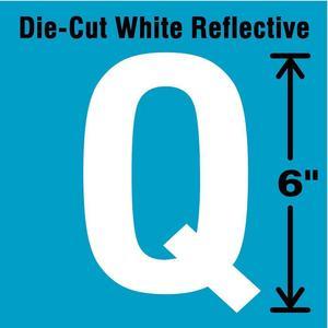 STRANCO INC DWR-6-Q-EA Letter Label Q White   AD4JJD 41R104
