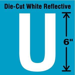 STRANCO INC DWR-6-U-EA Letter Label U White | AD4JJH 41R108