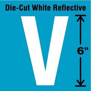 STRANCO INC DWR-6-V-EA Letter Label V White   AD4JJJ 41R109
