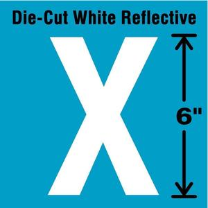 STRANCO INC DWR-6-X-EA Letter Label x White | AD4JJL 41R111