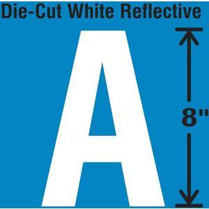 STRANCO INC DWR-SINGLE-8-A Die-Cut Reflective Letter Label A   AH3AEN 30WZ26