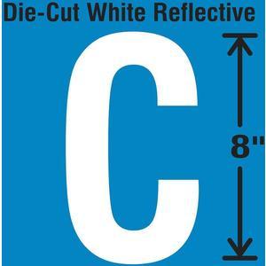 STRANCO INC DWR-SINGLE-8-C Die-Cut Reflective Letter Label C | AH3AEQ 30WZ28