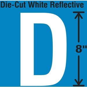 STRANCO INC DWR-SINGLE-8-D Die-Cut Reflective Letter Label D | AH3AER 30WZ29