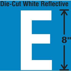 STRANCO INC DWR-SINGLE-8-E Die-Cut Reflective Letter Label E   AH3AET 30WZ30