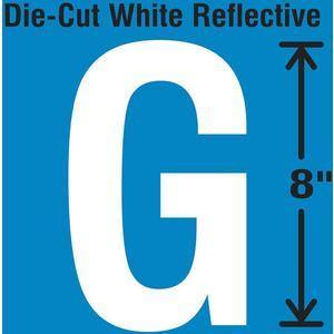 STRANCO INC DWR-SINGLE-8-G Die-Cut Reflective Letter Label G   AH3AEV 30WZ32