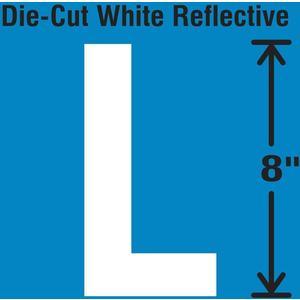 STRANCO INC DWR-SINGLE-8-L Die-Cut Reflective Letter Label L   AH3AFA 30WZ37