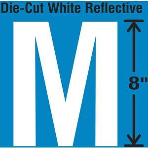 STRANCO INC DWR-SINGLE-8-M Die-Cut Reflective Letter Label M   AH3AFB 30WZ38
