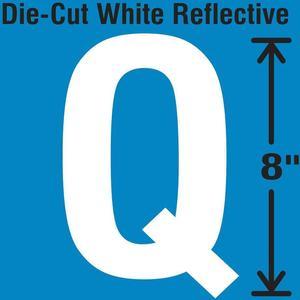 STRANCO INC DWR-SINGLE-8-Q Die-Cut Reflective Letter Label Q | AH3AFF 30WZ42