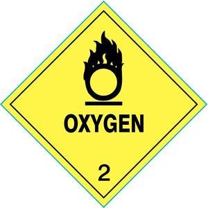 STRANCO INC HMSL-0040-P100 Label Oxygen 4 Inch x 4 Inch 100 Labels | AC6HGJ 33W828