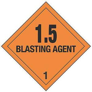STRANCO INC HMSL-0101-V250 Dot Label Black/orange 4 Inch H Vinyl | AF4GMV 8W042