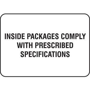 STRANCO INC HMSL-3504-P100 Dot Label 3 Inch Width 5 Inch H Paper - Pack Of 100   AF6BGF 9VR73