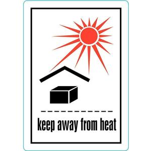 STRANCO INC HMSL-3506-P500 Label Keep Away From Heat 500 Labels   AC6HGF 33W825
