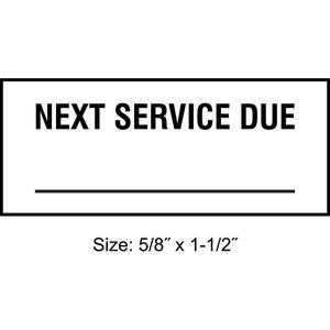 STRANCO INC TC-10703 Inspection Label ENG Maintenance PK350 | AH3AVG 30XD45