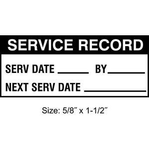 STRANCO INC TC-20901 Inspection Label ENG Maintenance PK350   AH3AVL 30XD49
