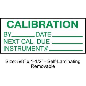 STRANCO INC TCRSL2-22133 Calibration Label ENG Green/White PK350 | AH3AWN 30XD74