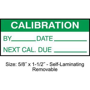STRANCO INC TCRSL2-22134 Calibration Label ENG Green/White PK350 | AH3AWJ 30XD70