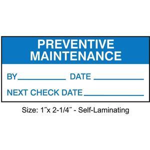 STRANCO INC TCSL3-39528 Inspection Label ENG Maintenance PK225   AH3AVF 30XD44