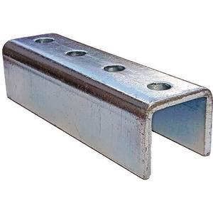 SUPER-STRUT A208 EG Joiner Fitting U-shape 4 Holes Silver | AB9ZWW 2HAL1