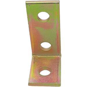 SUPER-STRUT AB204 Angle Bracket 90 Degree 3 Holes Gold   AB9ZWB 2HAF7