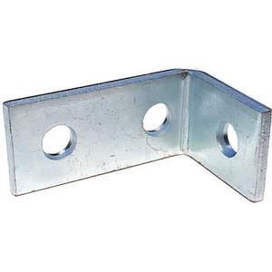 SUPER-STRUT AB204EG Angle Bracket 90 Degree 3 Holes Silver | AB9ZWE 2HAJ1