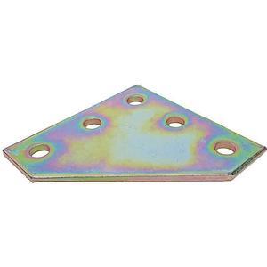 SUPER-STRUT AB263 Connecting Plate Corner 5 Holes Gold | AB9ZWH 2HAJ5