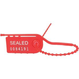 TYDENBROOKS 1061055 Pull Tight Seal 8 Inch Hdpe Red - Pack Of 100 | AC8FGT 39R479