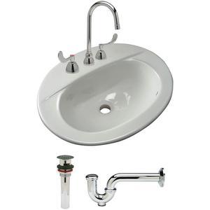 ZURN Z5118.530.1.07.00.00 Bathroom Sink Kit Vitreous China White | AA2GTD 10J139