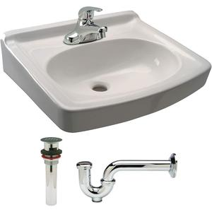 ZURN Z5354.119.1.07.00.00 Bathroom Sink Kit Wall White 19-1/2 Inch Length | AA2GRY 10J133