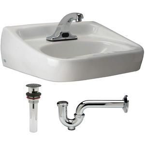 ZURN Z5354.660.1.07.00.0 Bathroom Sink Kit Wall White 19-1/2 Inch Length | AA2GTB 10J137