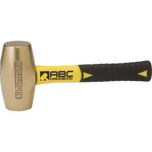 ABC HAMMERS ABC5BFS Drilling Hammer, Brass, 5 lbs, 8 Fiberglass Handle | AJ8BZJ