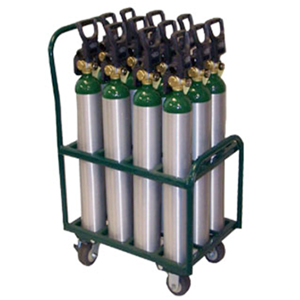 SAFTCART MDE-12S Medical Cylinder Cart, Height 35 Inch, Width 21 Inch | CE2HBU