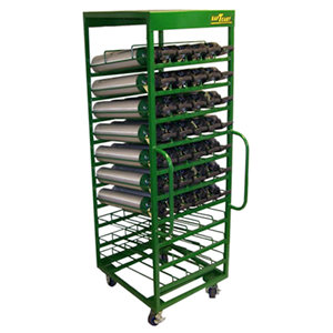 SAFTCART MDE-50HS Medical Cylinder Cart, Height 78 Inch, Width 27 Inch | CE2HBV