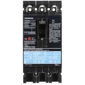 SIEMENS ED63B020 Bolt On Circuit Breaker Ed 20 Amp 600vac 3p 25kaic@480v | AG8MVY