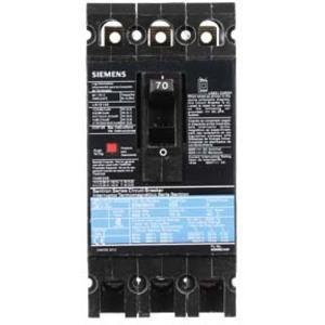 SIEMENS ED63B070 Bolt On Circuit Breaker Ed 70 Amp 600vac 3p 25kaic@480v | AG8MWG
