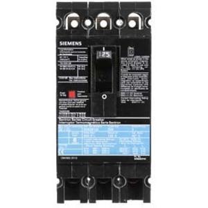 SIEMENS ED63B125 Bolt On Circuit Breaker Ed 125 Amp 600vac 3p 25kaic@480v | AG8MWM