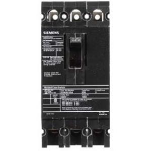 SIEMENS ED63S125A Bolt On Circuit Breaker Ed 125 Amp 600vac 3p 25kaic@480v | AG8MWT