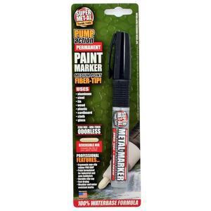 SUPER MET-AL 07103 Water Based Permanent Paint Marker, Black | AJ8CFB