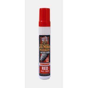 SUPER MET-AL 07404 Water Based Jumbo Permanent Paint Marker, Red | AJ8CGE